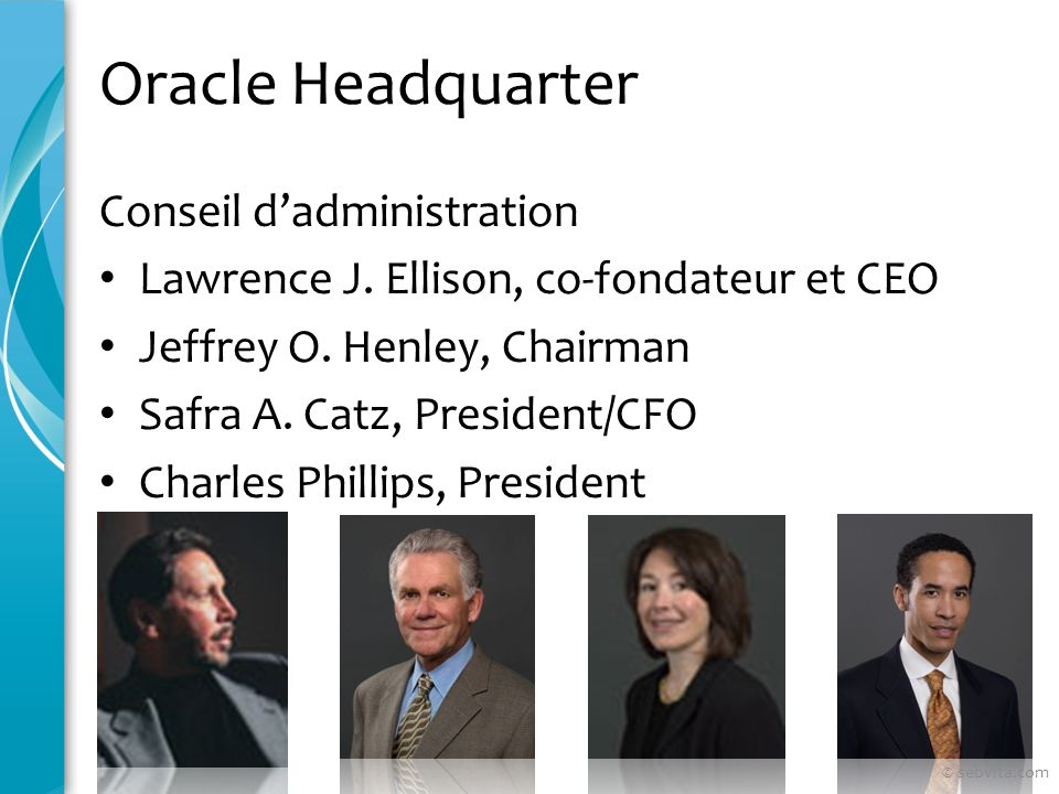 Oracle Headquarter Conseil d'administration