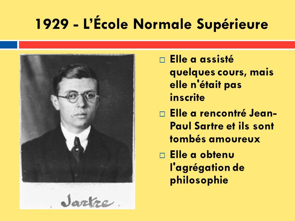 1929 - L'École Normale Supérieure