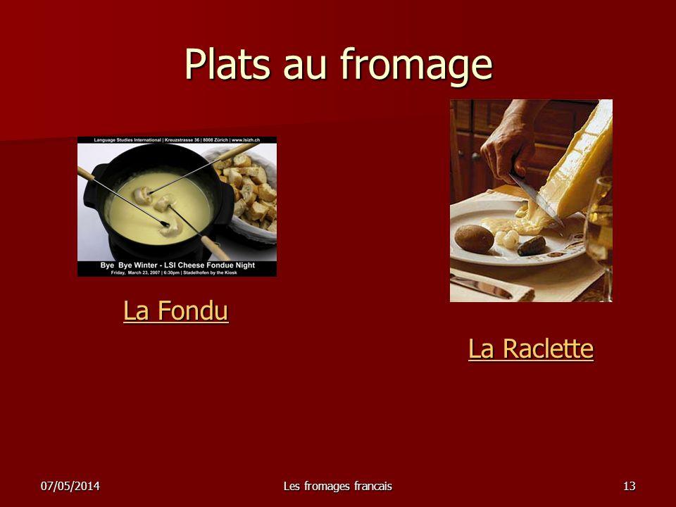 Plats au fromage La Fondu La Raclette 30/03/2017 Les fromages francais