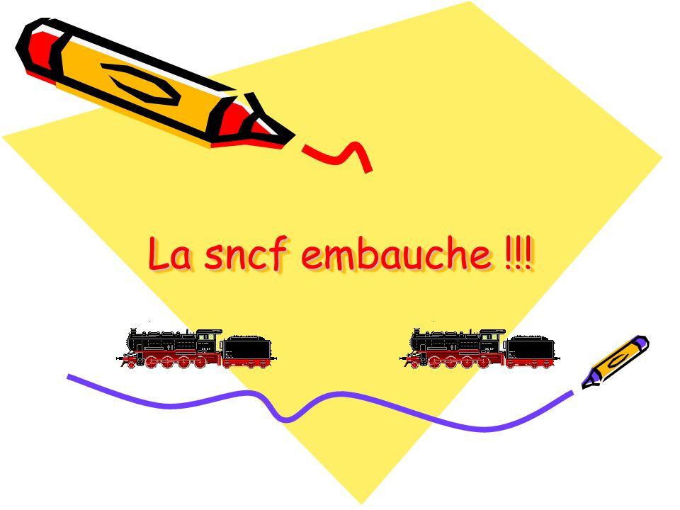 La sncf embauche !!! Diaporama PPS réalisé pour http://www.diaporamas-a-la-con.com