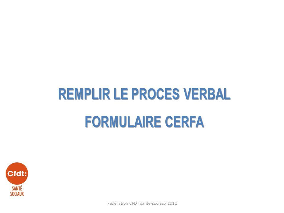 Remplir le proces verbal formulaire cerfa