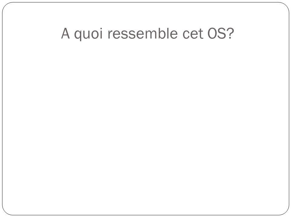 A quoi ressemble cet OS
