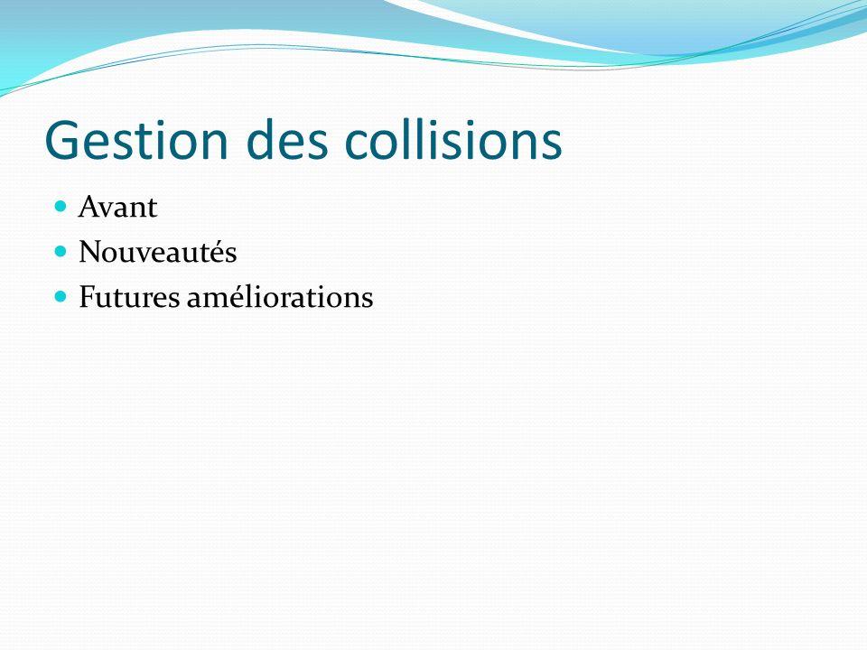 Gestion des collisions
