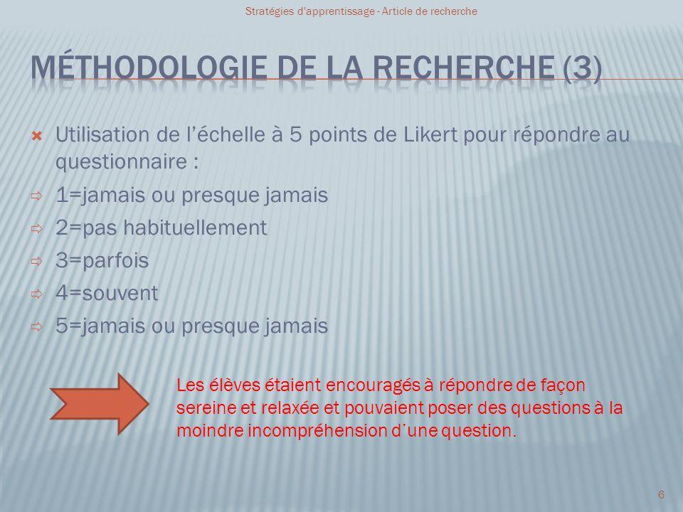 Méthodologie de la recherche (3)