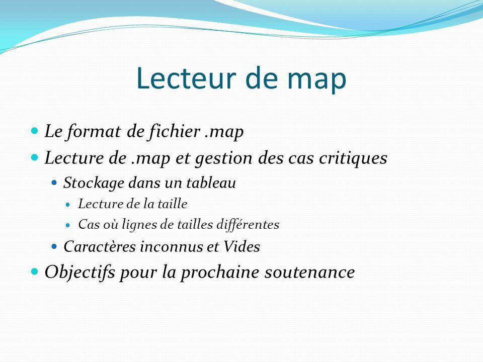Lecteur de map Le format de fichier .map