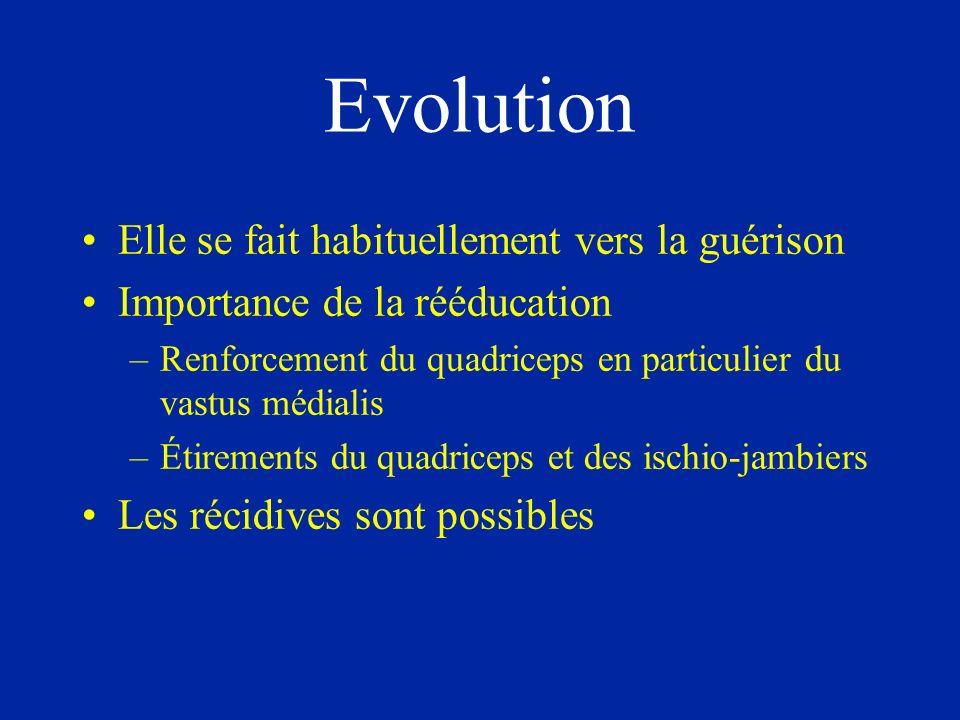 Evolution Elle se fait habituellement vers la guérison