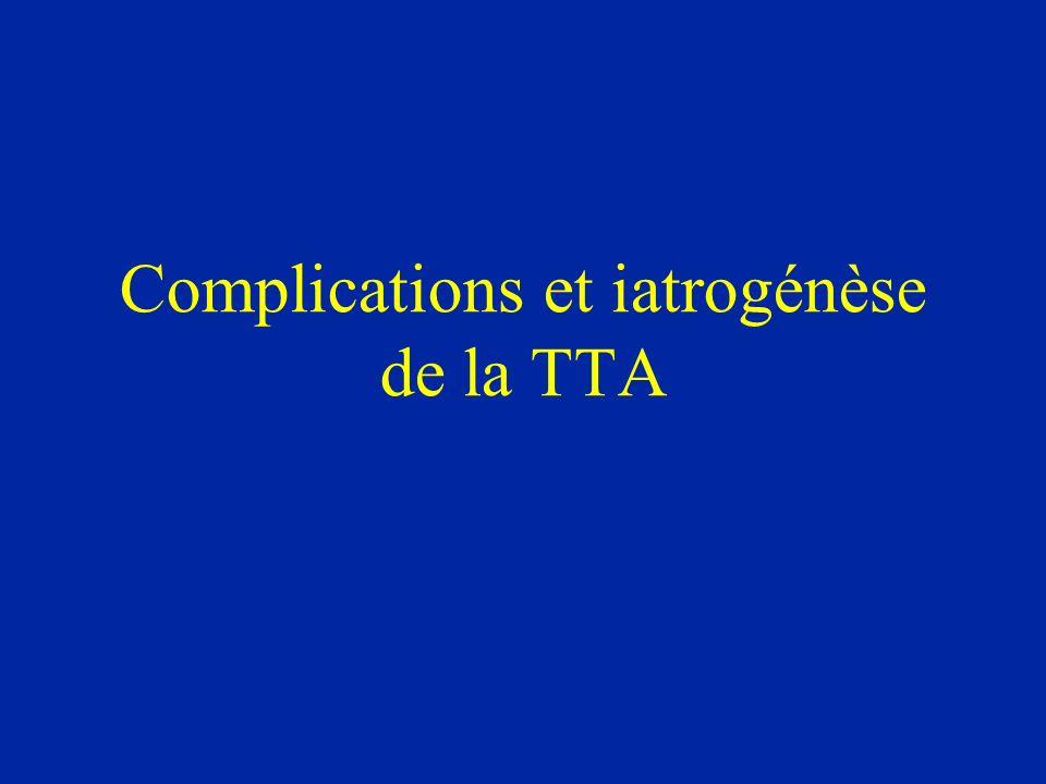 Complications et iatrogénèse de la TTA