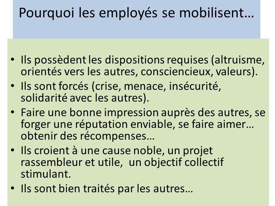 Pourquoi les employés se mobilisent…