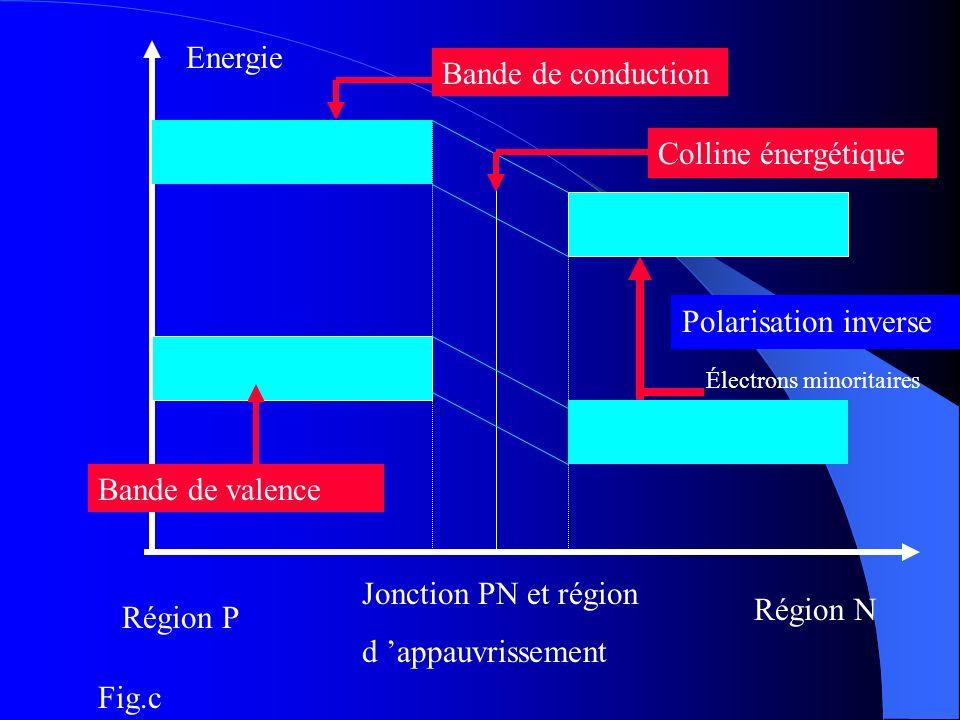 Energie Bande de conduction Colline énergétique Polarisation inverse