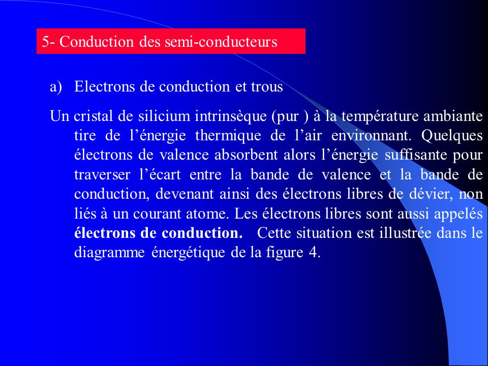 5- Conduction des semi-conducteurs