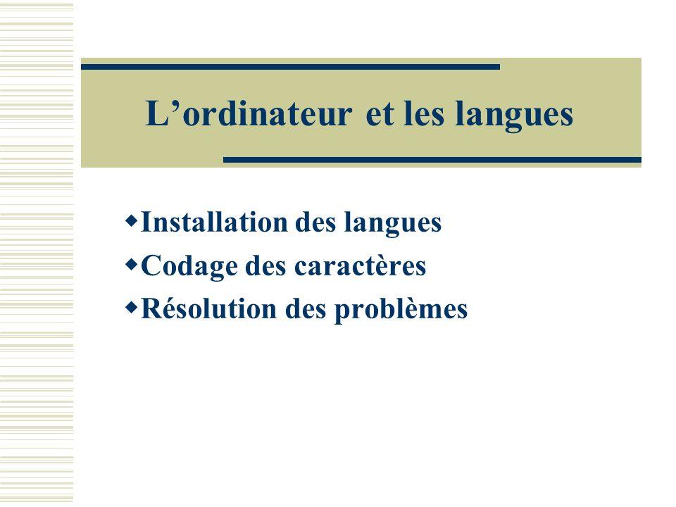 L'ordinateur et les langues