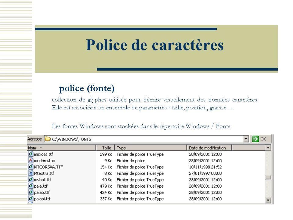 Police de caractères police (fonte)