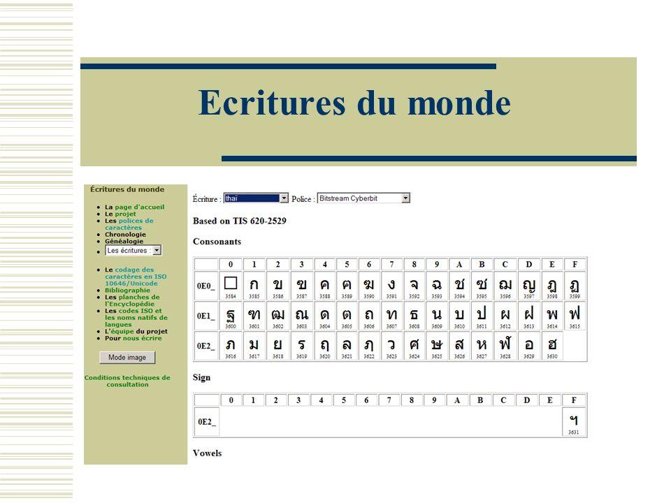 Ecritures du monde