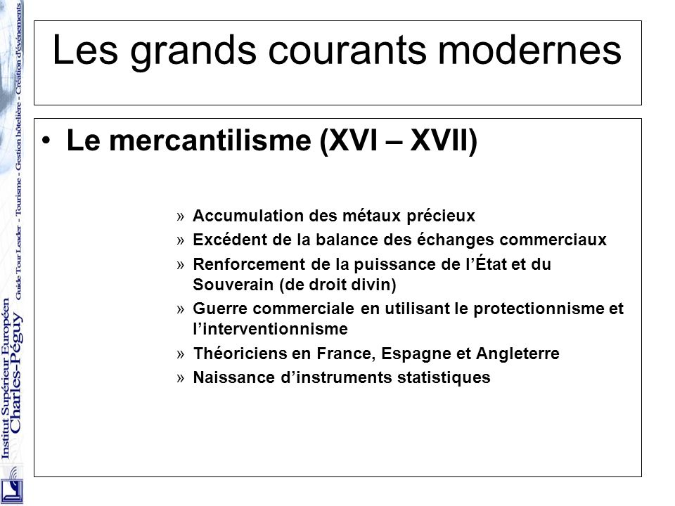 Les grands courants modernes