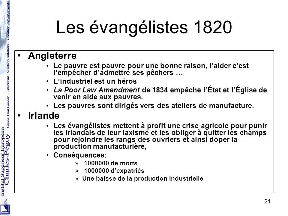 Les évangélistes 1820 Angleterre Irlande