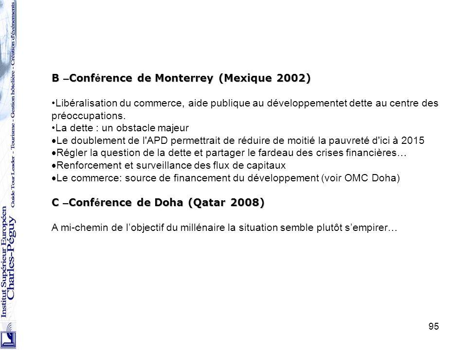 B –Conférence de Monterrey (Mexique 2002)