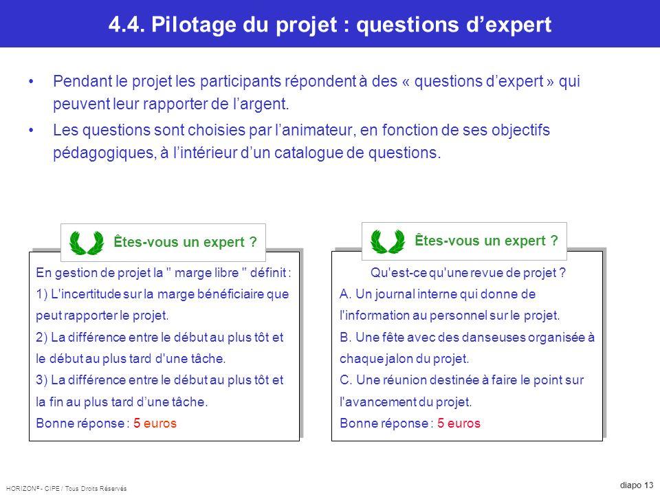 4.4. Pilotage du projet : questions d'expert