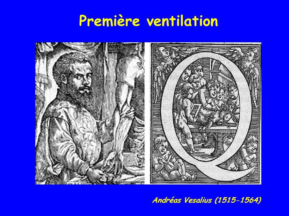 Première ventilation Andréas Vesalius (1515-1564)