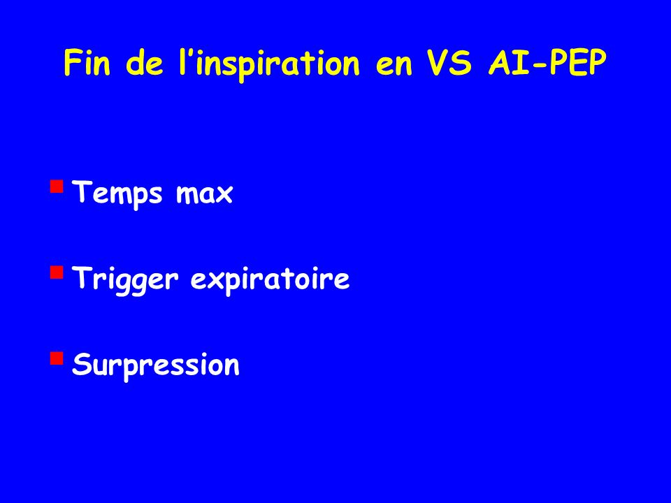 Fin de l'inspiration en VS AI-PEP
