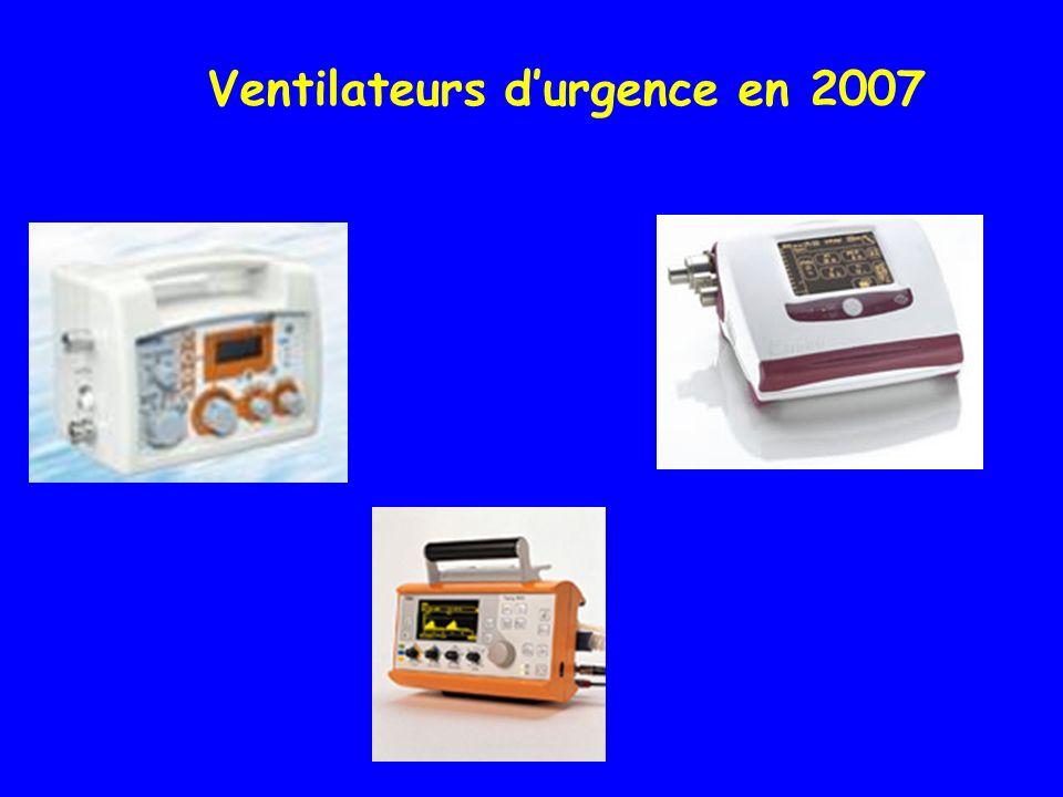 Ventilateurs d'urgence en 2007