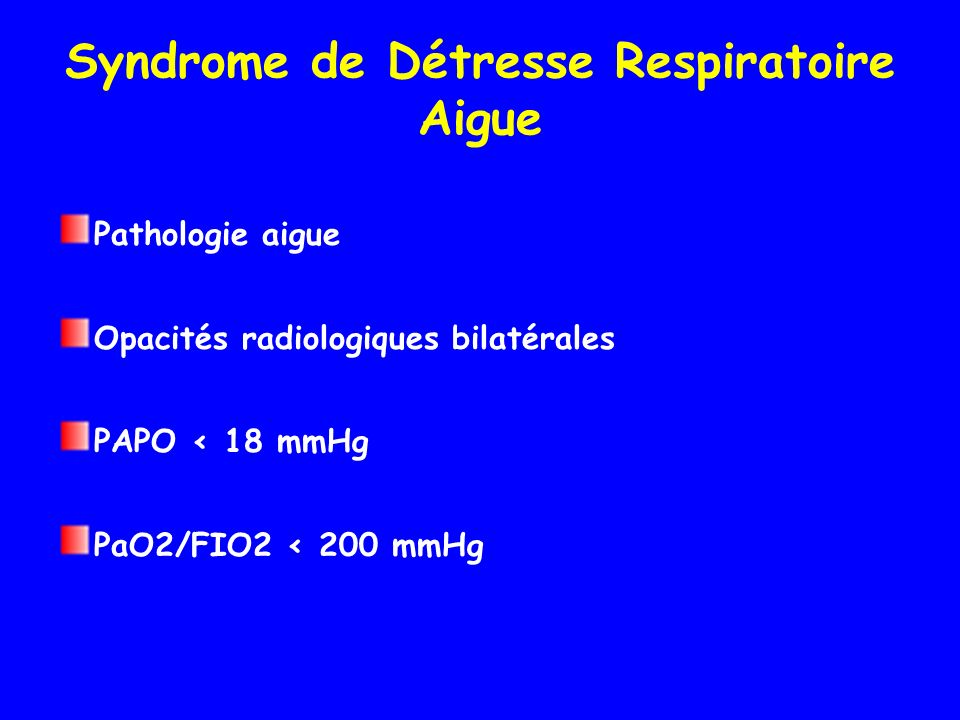 Syndrome de Détresse Respiratoire Aigue