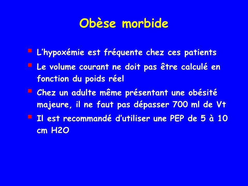 Obèse morbide L'hypoxémie est fréquente chez ces patients