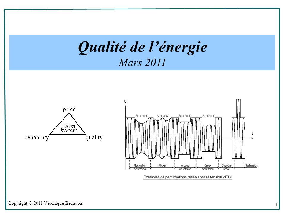 Qualité de l'énergie Mars 2011