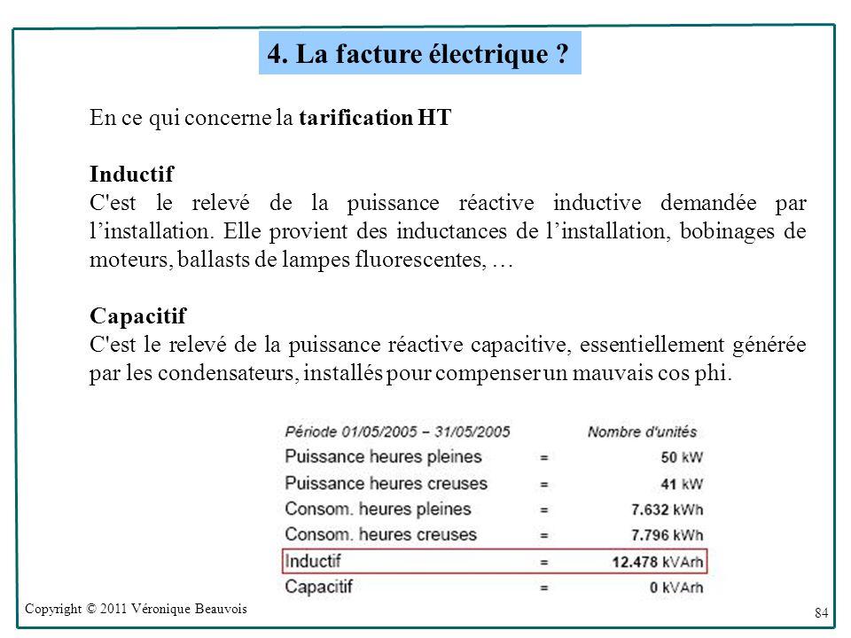 4. La facture électrique En ce qui concerne la tarification HT