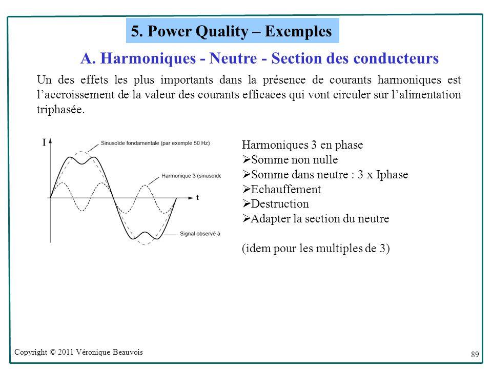 A. Harmoniques - Neutre - Section des conducteurs