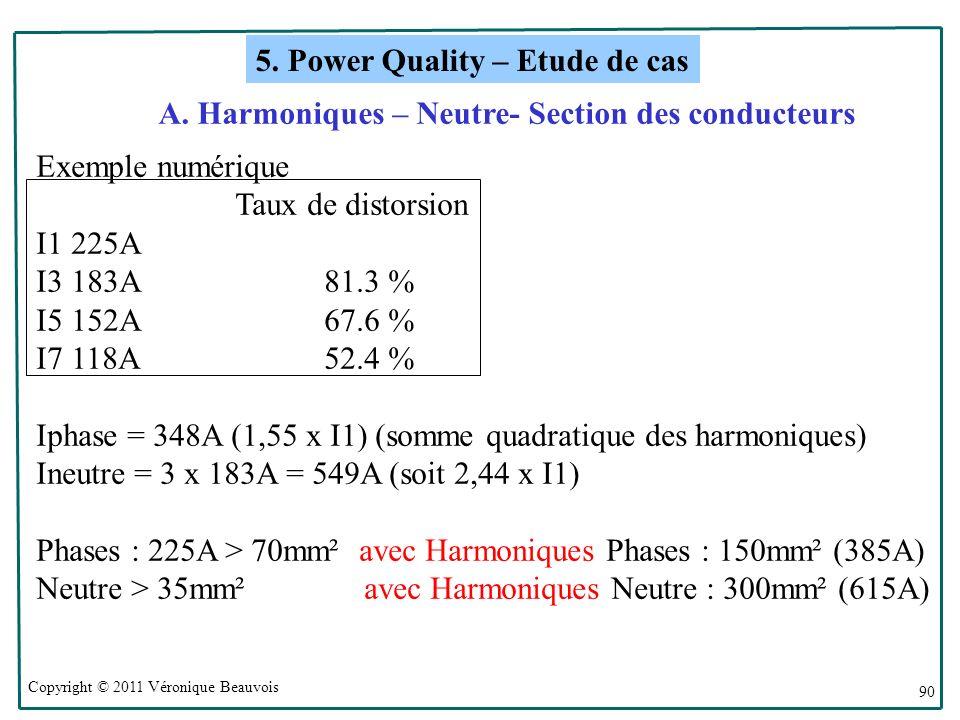 A. Harmoniques – Neutre- Section des conducteurs