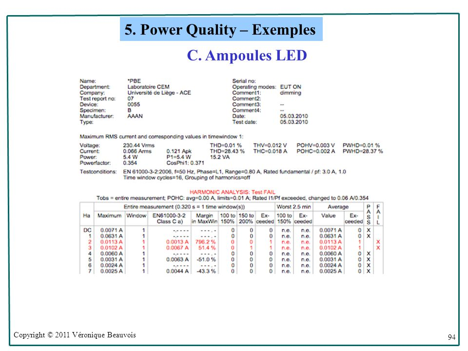 5. Power Quality – Exemples
