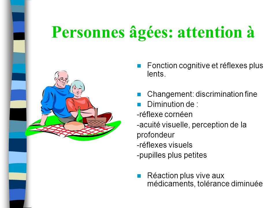 Personnes âgées: attention à