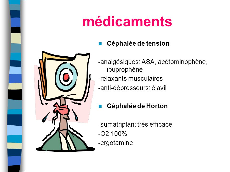 médicaments Céphalée de tension