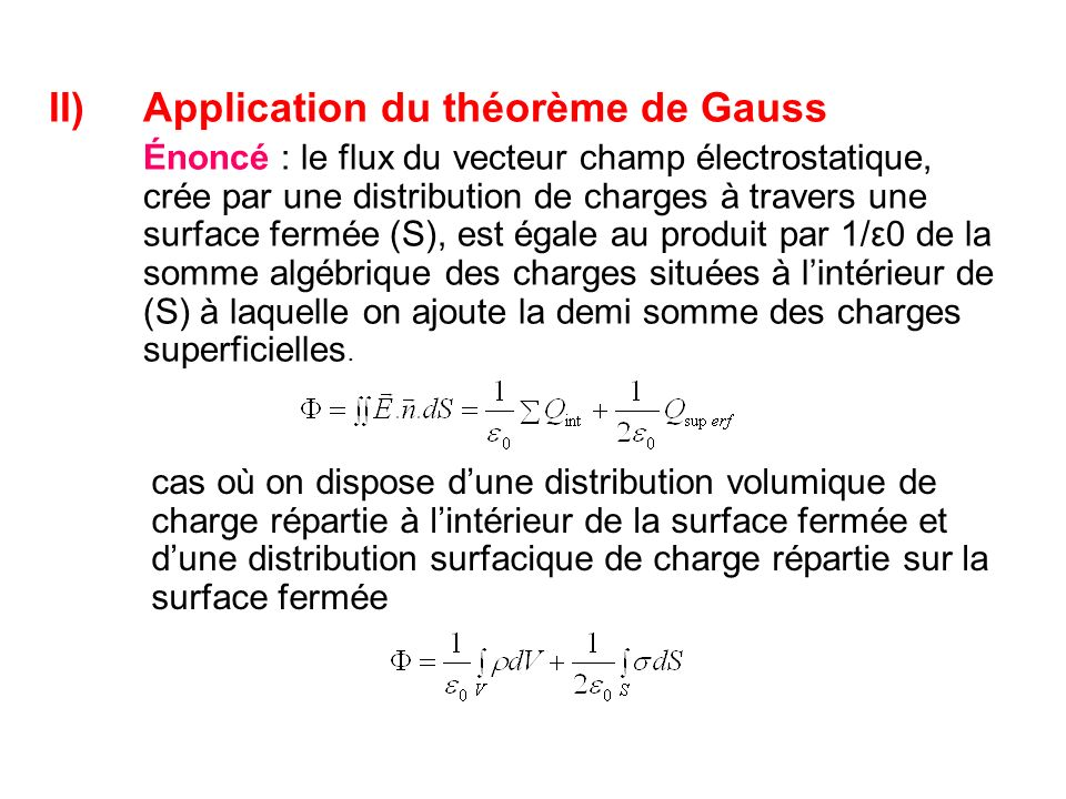 Application du théorème de Gauss