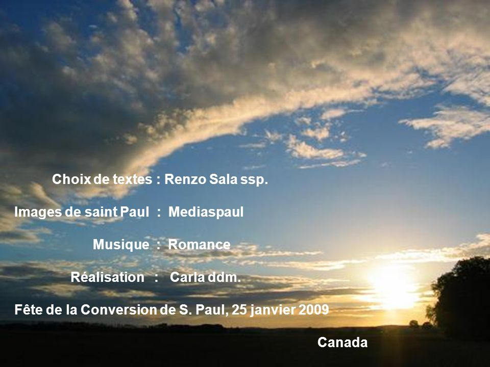 Choix de textes : Renzo Sala ssp.
