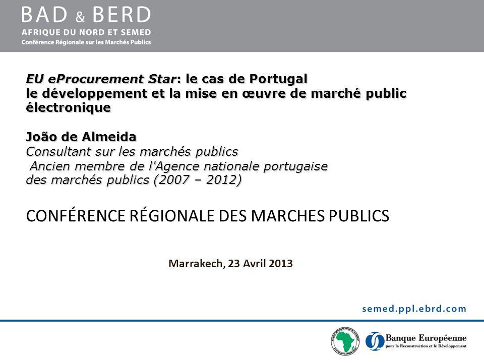 CONFÉRENCE RÉGIONALE DES MARCHES PUBLICS