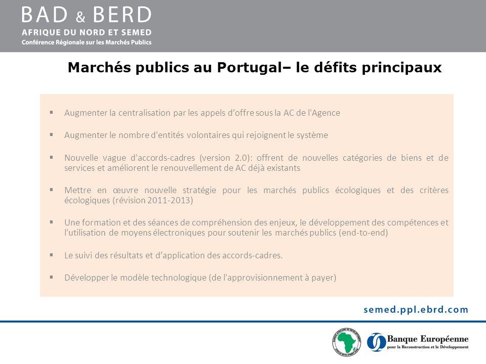 Marchés publics au Portugal– le défits principaux