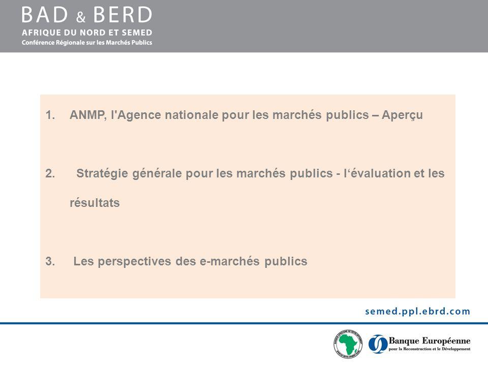 ANMP, l Agence nationale pour les marchés publics – Aperçu