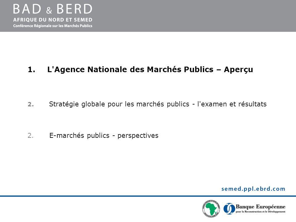 L Agence Nationale des Marchés Publics – Aperçu