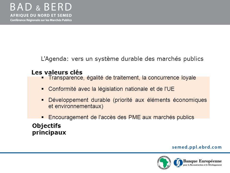 L Agenda: vers un système durable des marchés publics