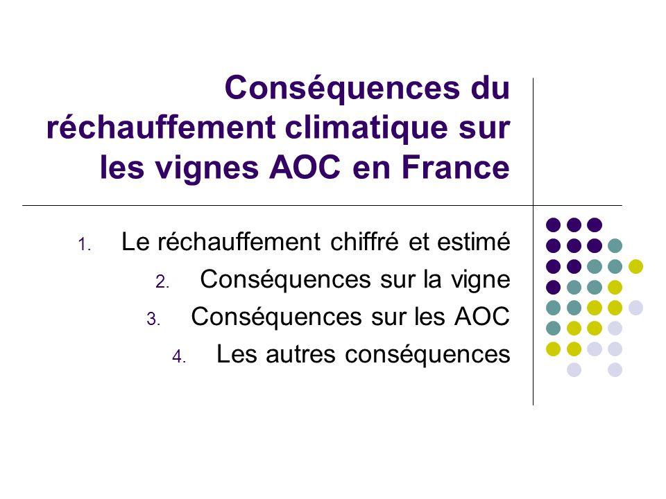 Conséquences du réchauffement climatique sur les vignes AOC en France