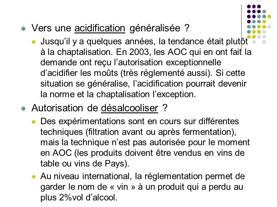 Vers une acidification généralisée