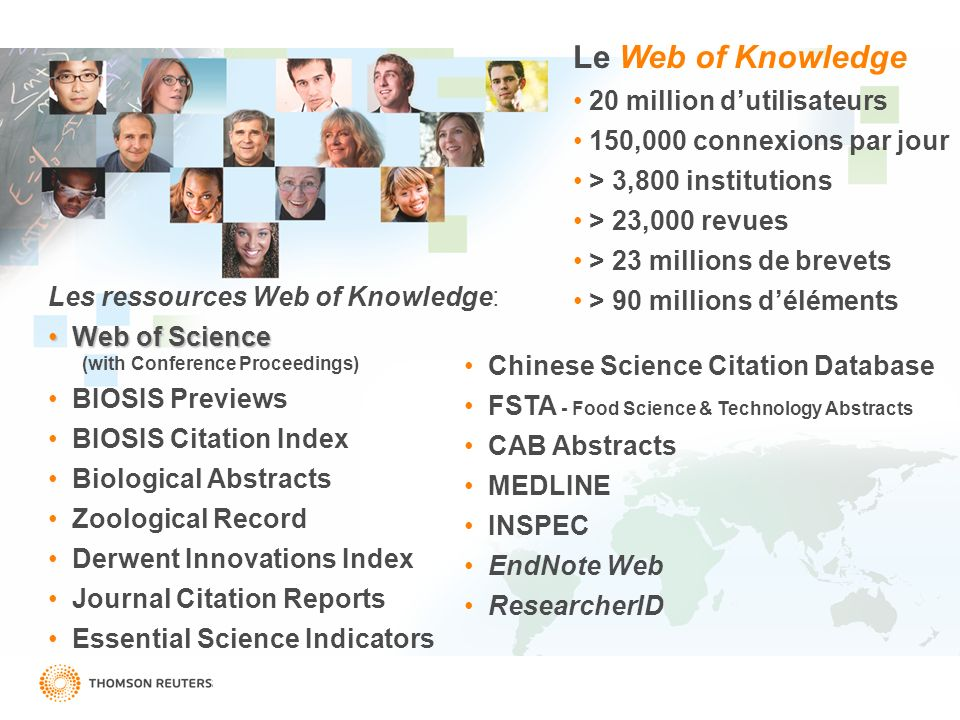 Le Web of Knowledge 20 million d'utilisateurs