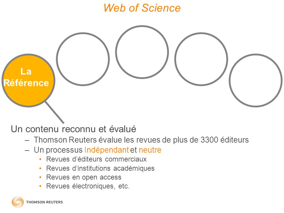 Web of Science Quality Data Diversity La Référence Discovery Tools