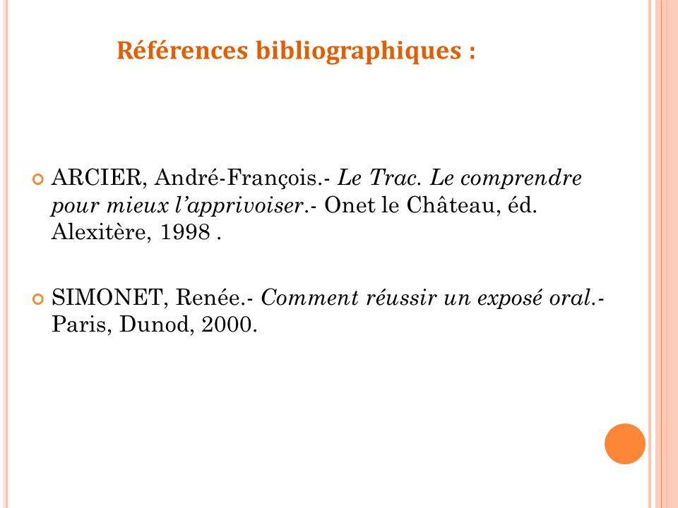 Références bibliographiques :