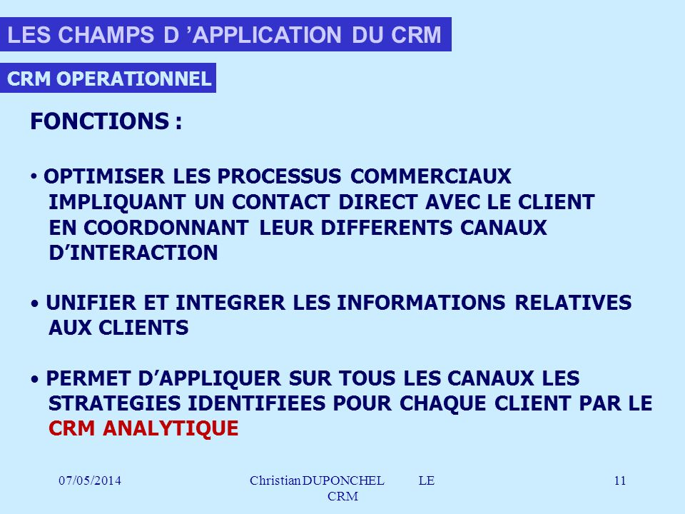 Christian DUPONCHEL LE CRM