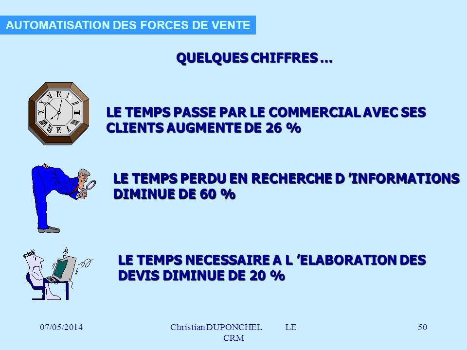 AUTOMATISATION DES FORCES DE VENTE