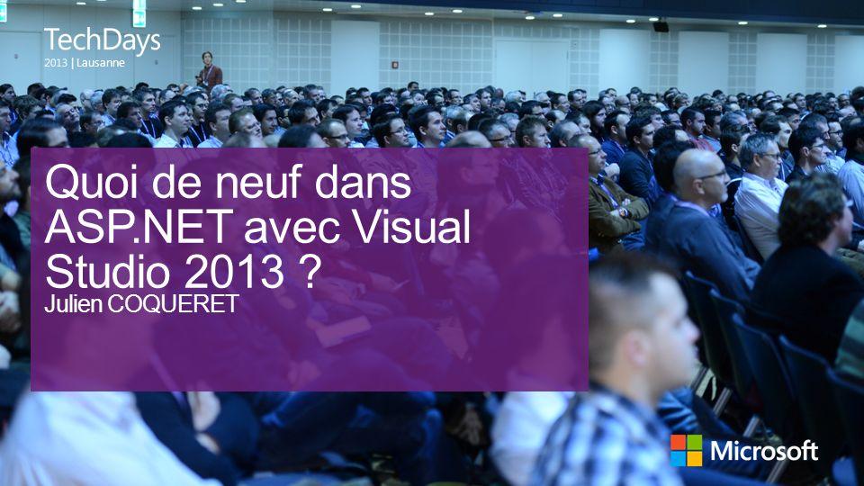 Quoi de neuf dans ASP.NET avec Visual Studio 2013