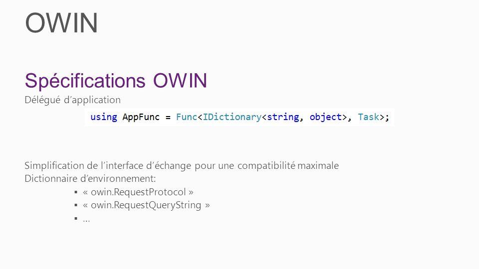 OWIN Spécifications OWIN Délégué d'application