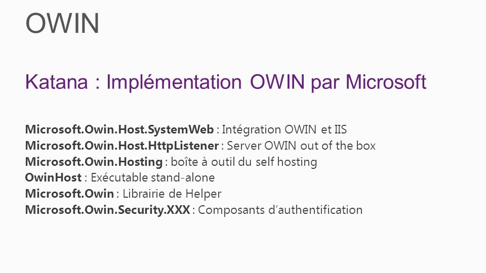 OWIN Katana : Implémentation OWIN par Microsoft